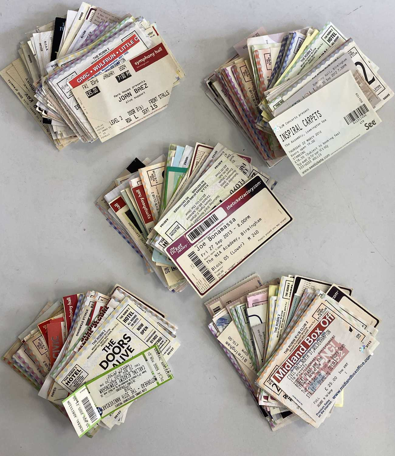 00s CONCERT TICKET ARCHIVE - SOME SIGNED.