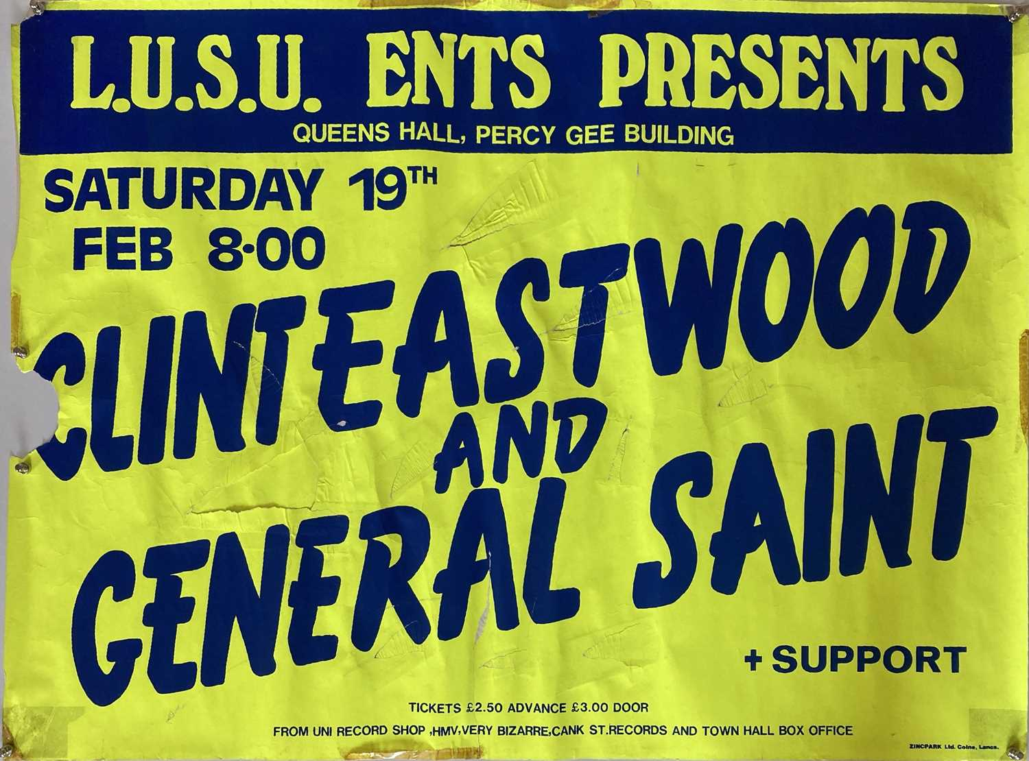LEICESTER POLY CONCERT POSTERS - CLINT EASTWOOD AND GENERAL SAINT.