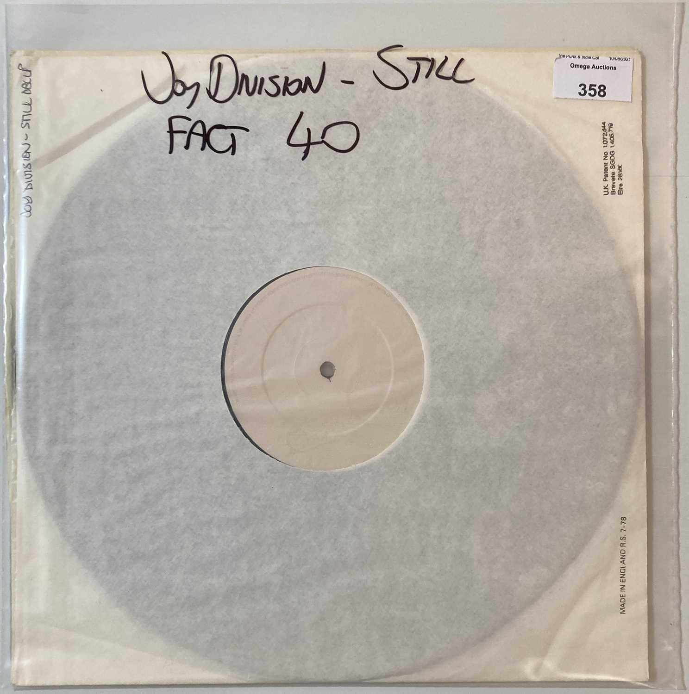 JOY DIVISION - STILL LP (ORIGINAL UK WHITE LABEL TEST PRESSING - FACT 40)