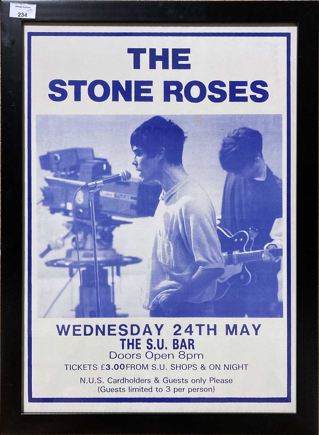STONE ROSES / BLACK GRAPE POSTERS. - Image 2 of 5