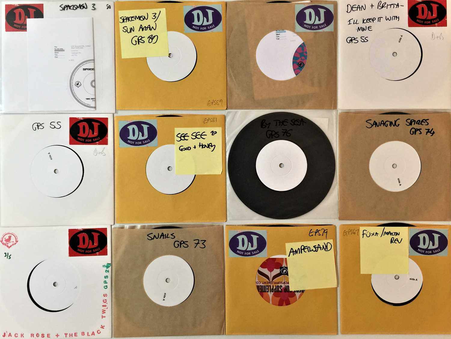 """THE GREAT POP SUPPLEMENT LABEL - 7"""" WHITE LABELS"""