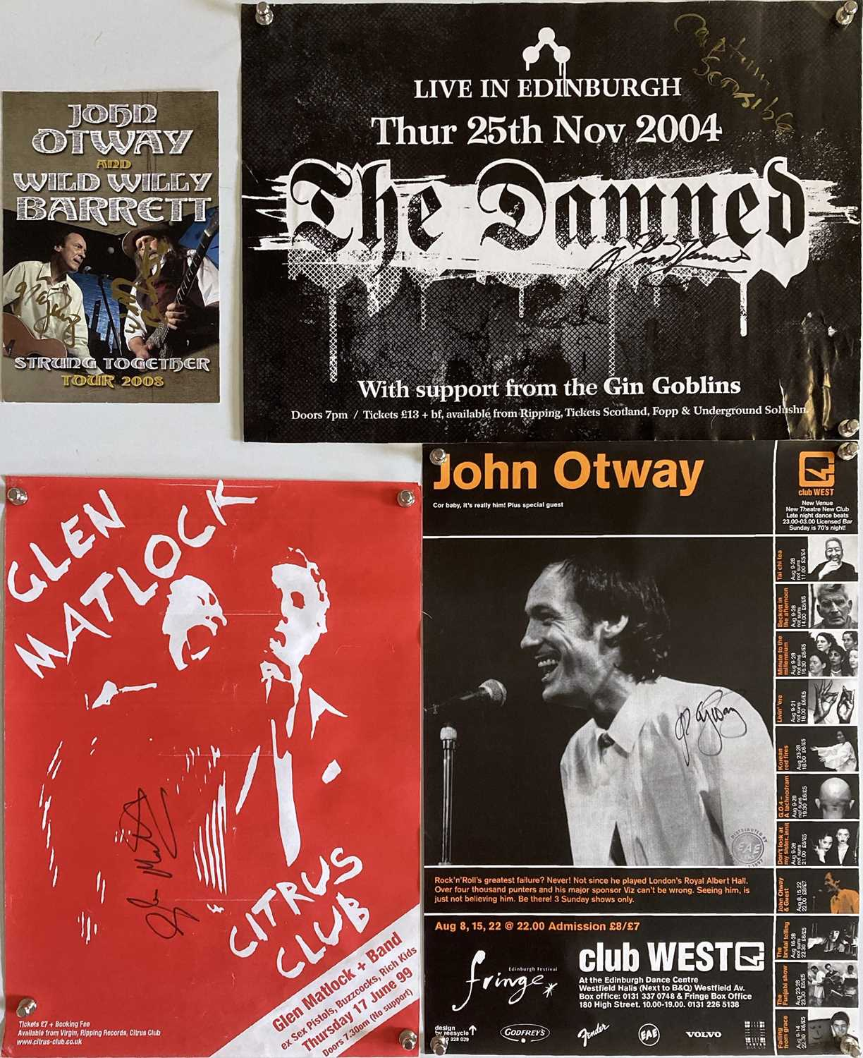SIGNED PUNK / POST PUNK POSTERS.