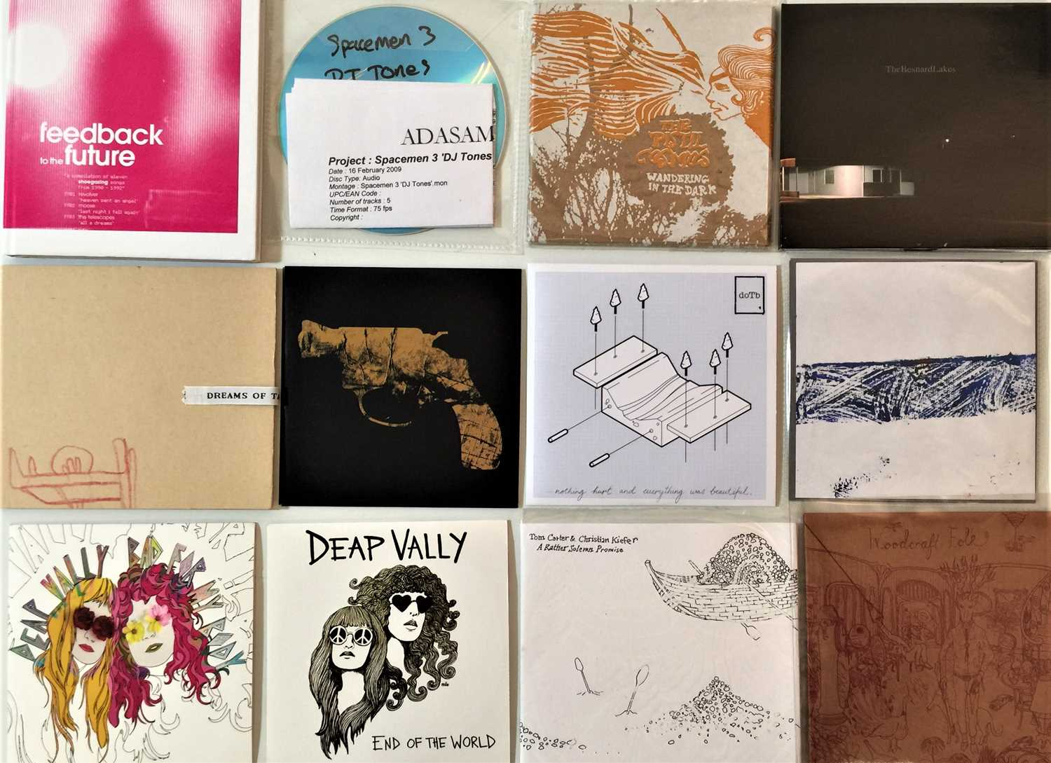 INDIE/ALT/PSYCH/ELECTRONIC - CD COLLECTION (WITH PROMOS/MASTERING COPIES).