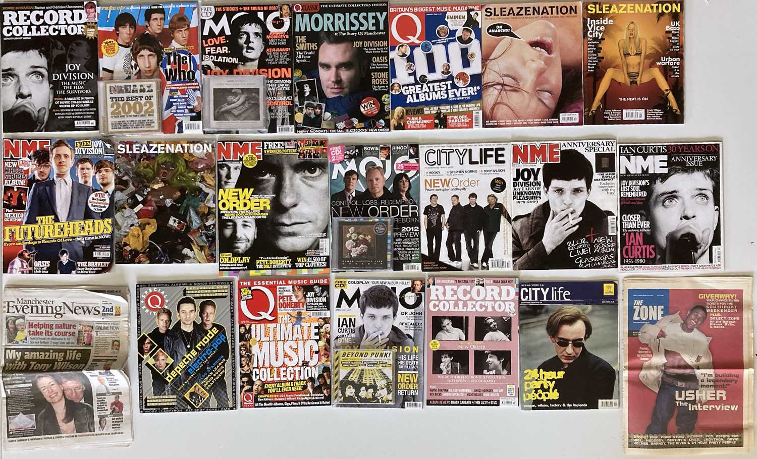 FACTORY/MANCHESTER ARTISTS - MUSIC MAGS