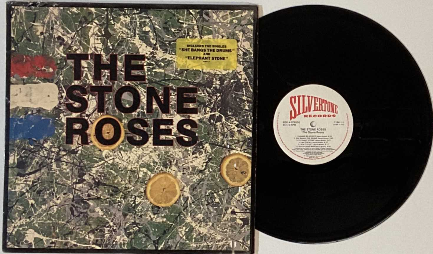 THE STONE ROSES - THE STONE ROSES LP (COMPLETE OG US COPY WITH PRESS RELEASE - SILVERTONE 1184-1-J)