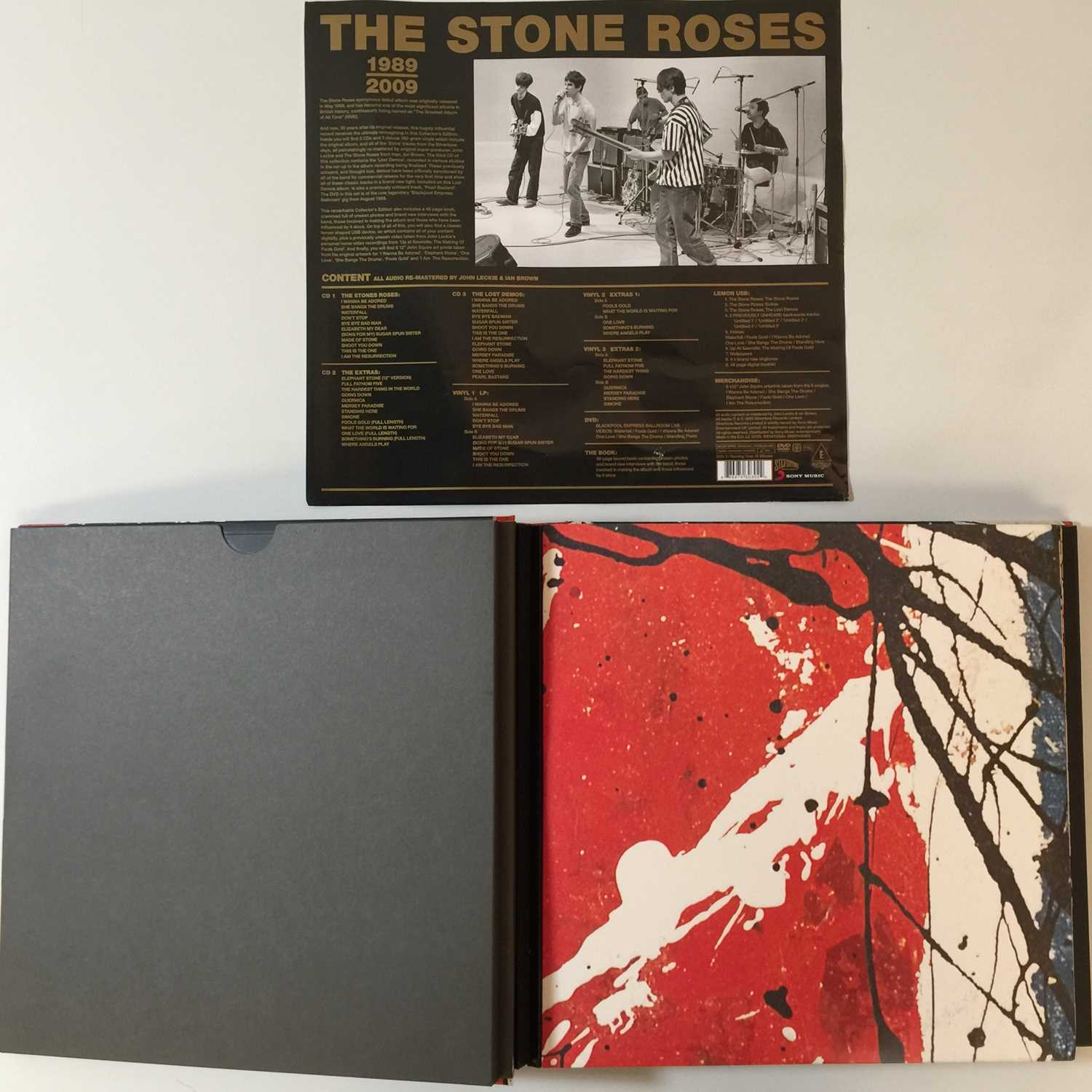 THE STONE ROSES - THE STONE ROSES (2009 LIMITED EDITION LP/CD/DVD BOX SET - SILVERTONE 88697430302) - Image 3 of 4