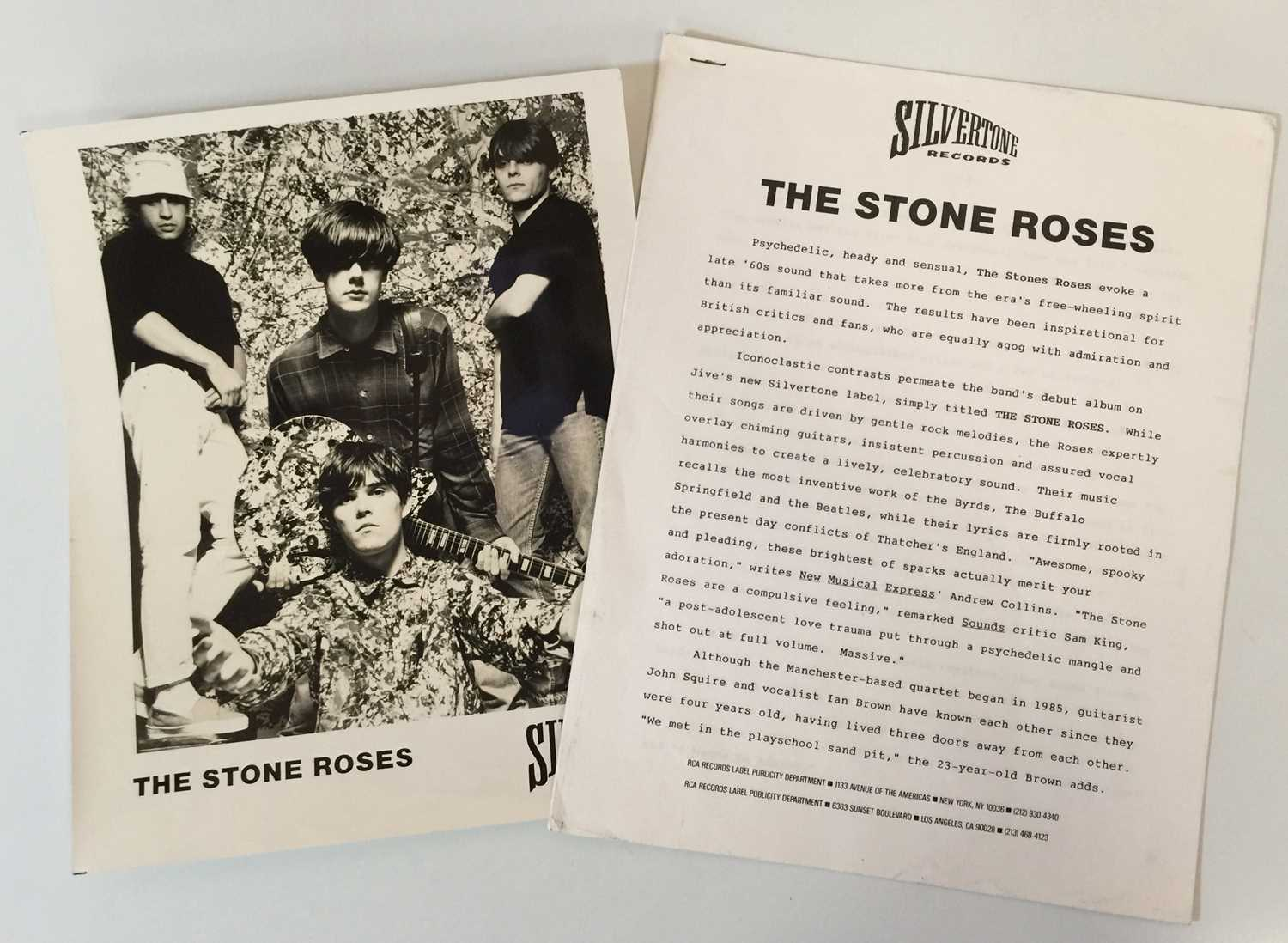 THE STONE ROSES - THE STONE ROSES LP (COMPLETE OG US COPY WITH PRESS RELEASE - SILVERTONE 1184-1-J) - Image 6 of 6