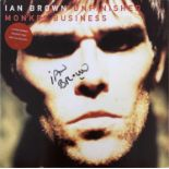 STONE ROSES / IAN BROWN - UNFINISHED MONKEY BUSINESS SIGNED.