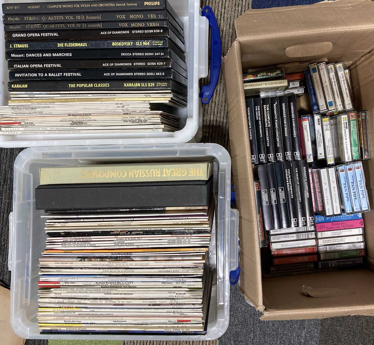 CLASSICAL - LPS, BOXSETS AND CASSETTES.