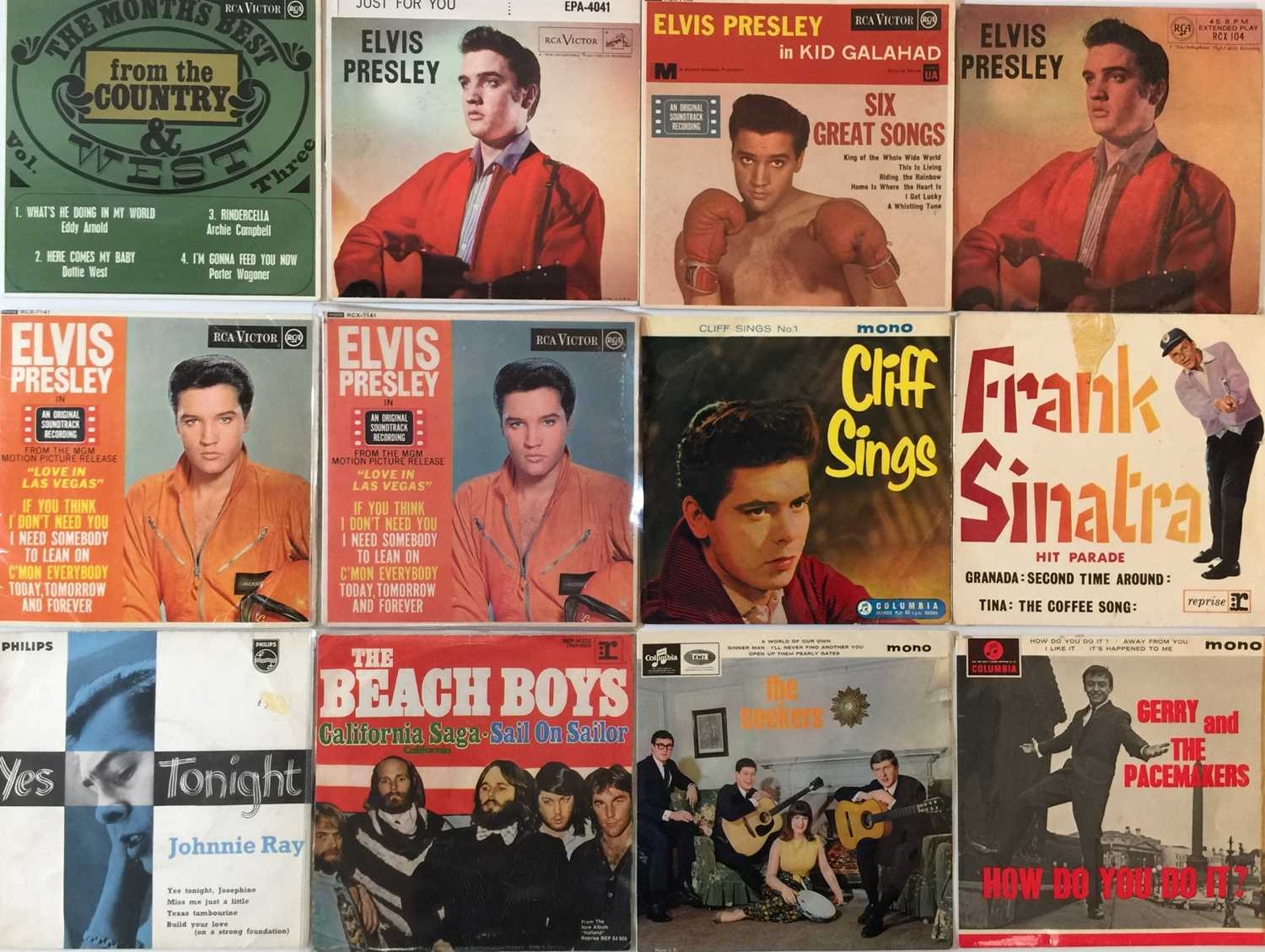 """COUNTRY/ ROCK/ POP - 7"""" EP COLLECTION - Image 2 of 3"""
