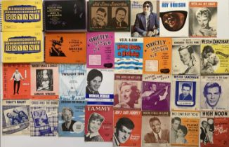 SHEET MUSIC AND SONG BOOKS.