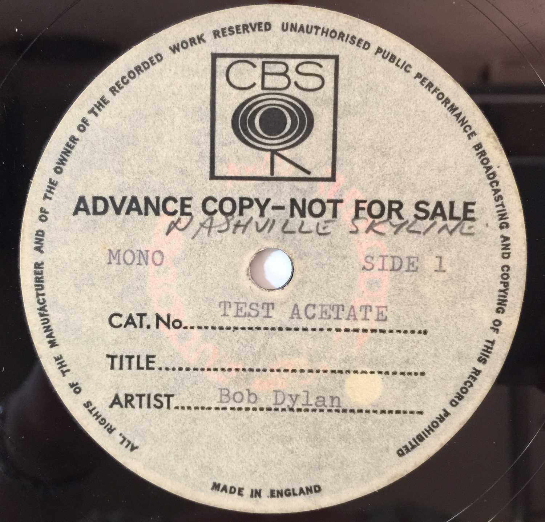 BOB DYLAN - NASHVILLE SKYLINE - LP CBS ACETATE - Image 2 of 3