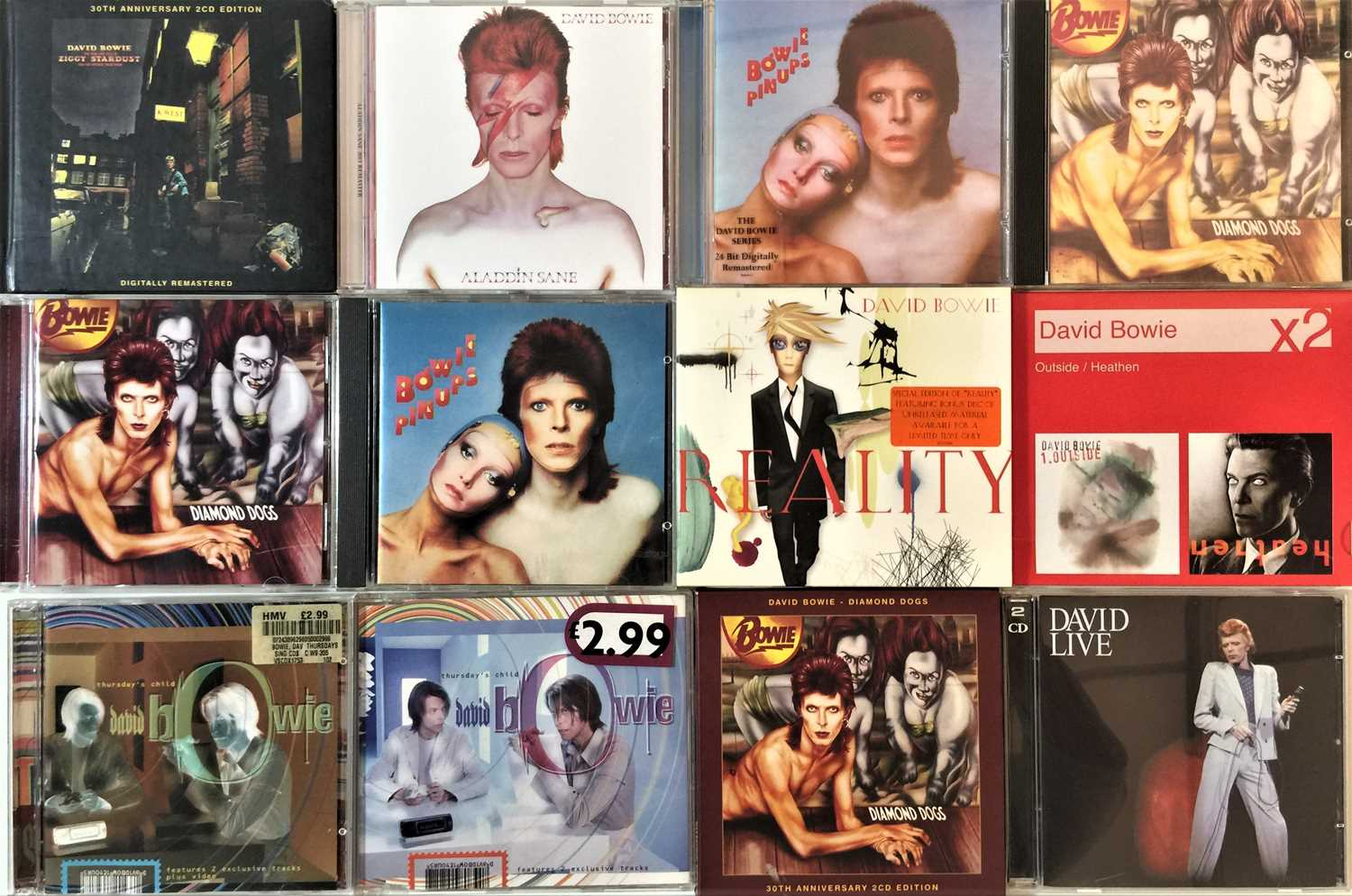 """DAVID BOWIE - CD COLLECTION PLUS LP/12"""" SELECTION - Image 2 of 5"""