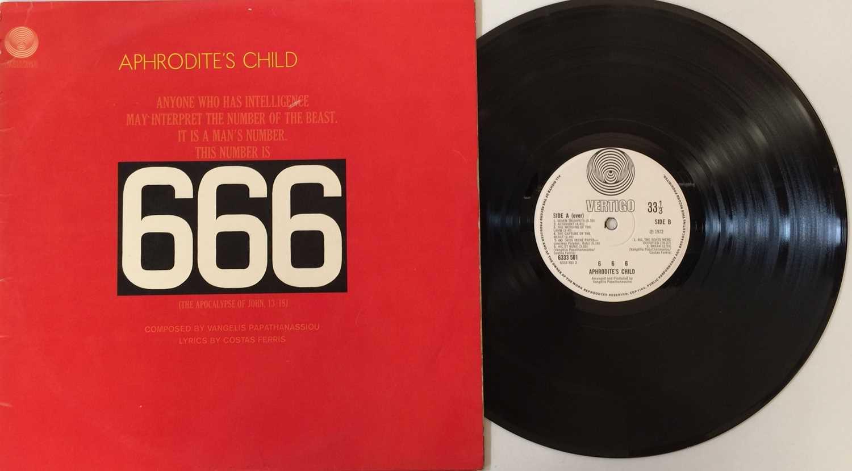 APHRODITE'S CHILD - 666 LP (ORIGINAL UK SWIRL - 6333 500/1)