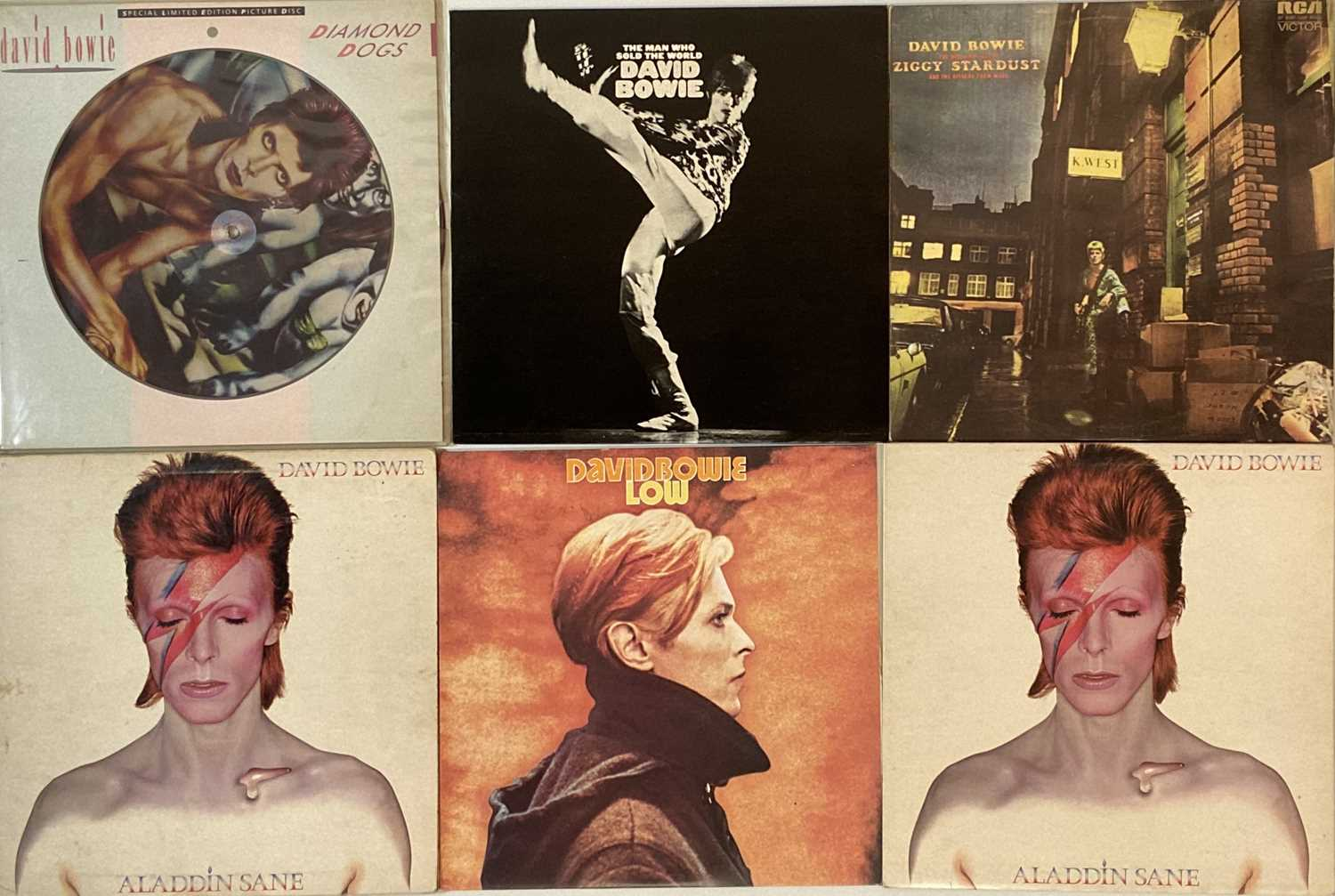DAVID BOWIE - UK PRESSING LP COLLECTION