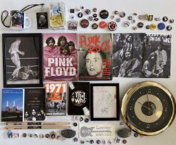 ASSORTED ROCK COLLECTABLES INC BADGES.
