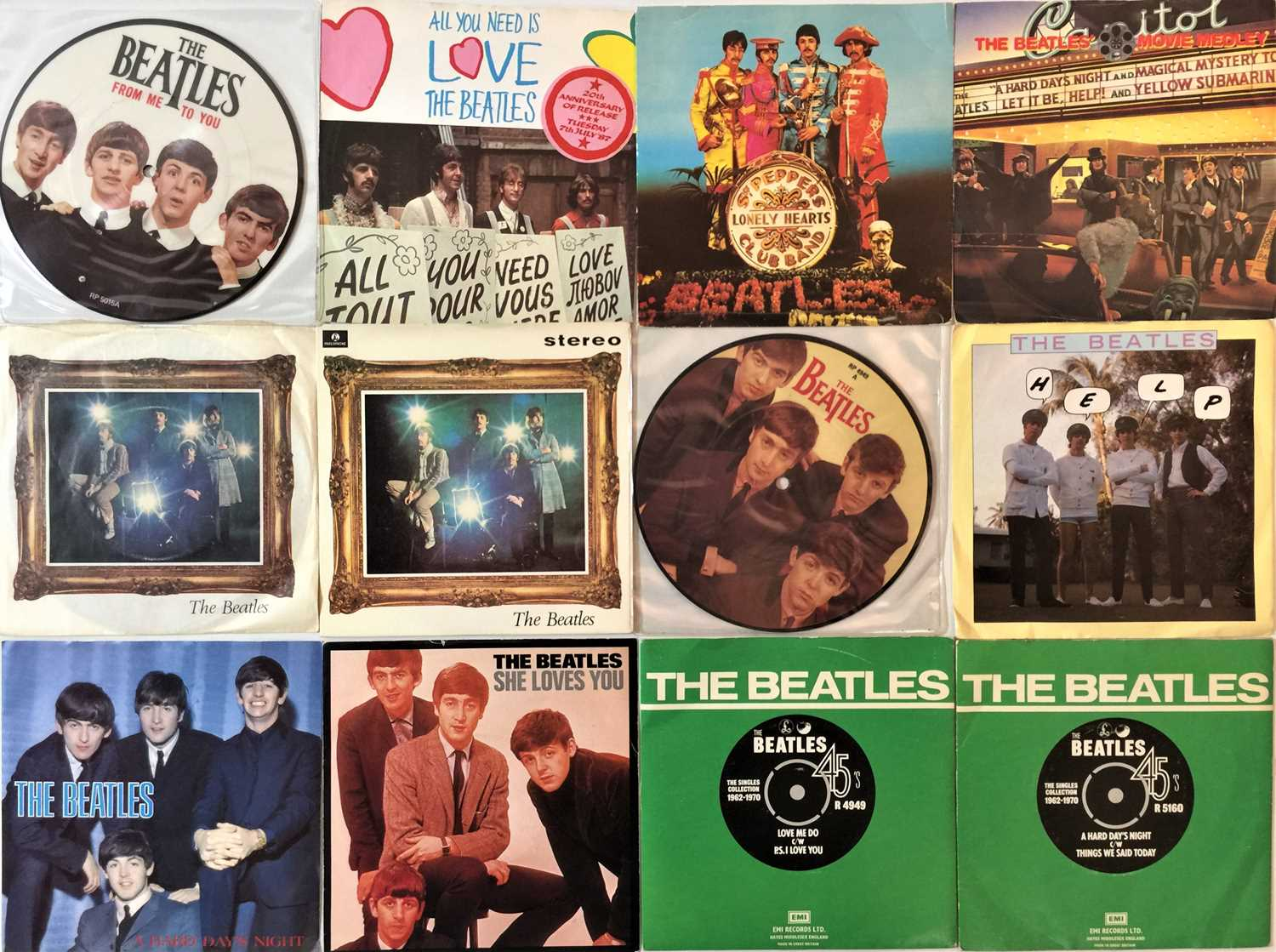 """THE BEATLES - 7"""" COLLECTION - Image 3 of 4"""