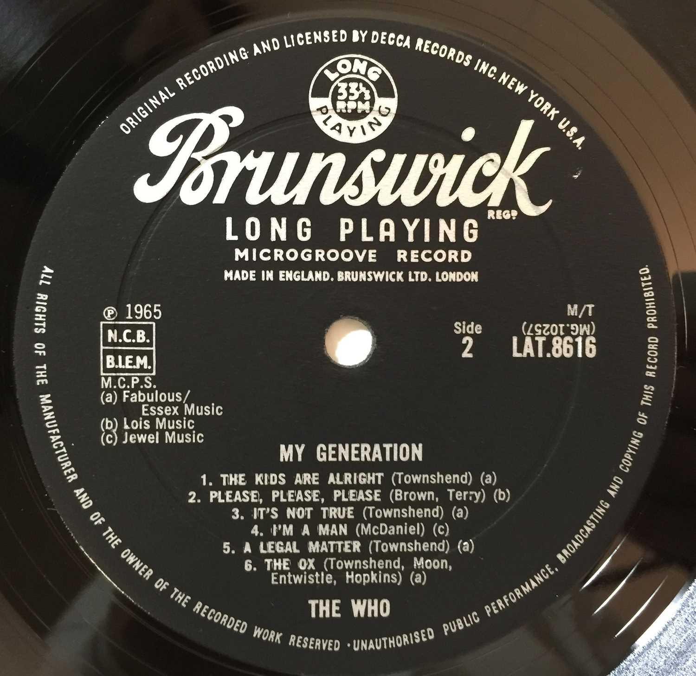 THE WHO - MY GENERATION LP (ORIGINAL UK PRESSING - BRUNSWICK LAT 8616 - Image 5 of 5