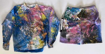 NED'S ATOMIC DUSTBIN - HAND PAINTED CLOTHES WORN IN GREY CELL GREEN VIDEO.