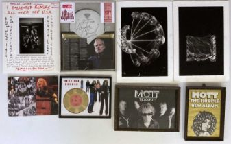 MOTT THE HOOPLE COLLECTION - PRESENTATION AWARDS / POSTERS AND MORE.