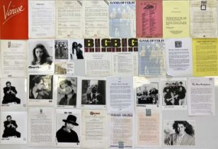 LARGE COLLECTION OF MUSIC PRESS AND PROMOTIONAL ITEMS.