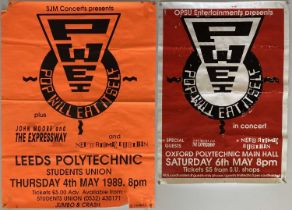 NED'S ATOMIC DUSTBIN + POP WILL EAT ITSELF CONCERT POSTERS.