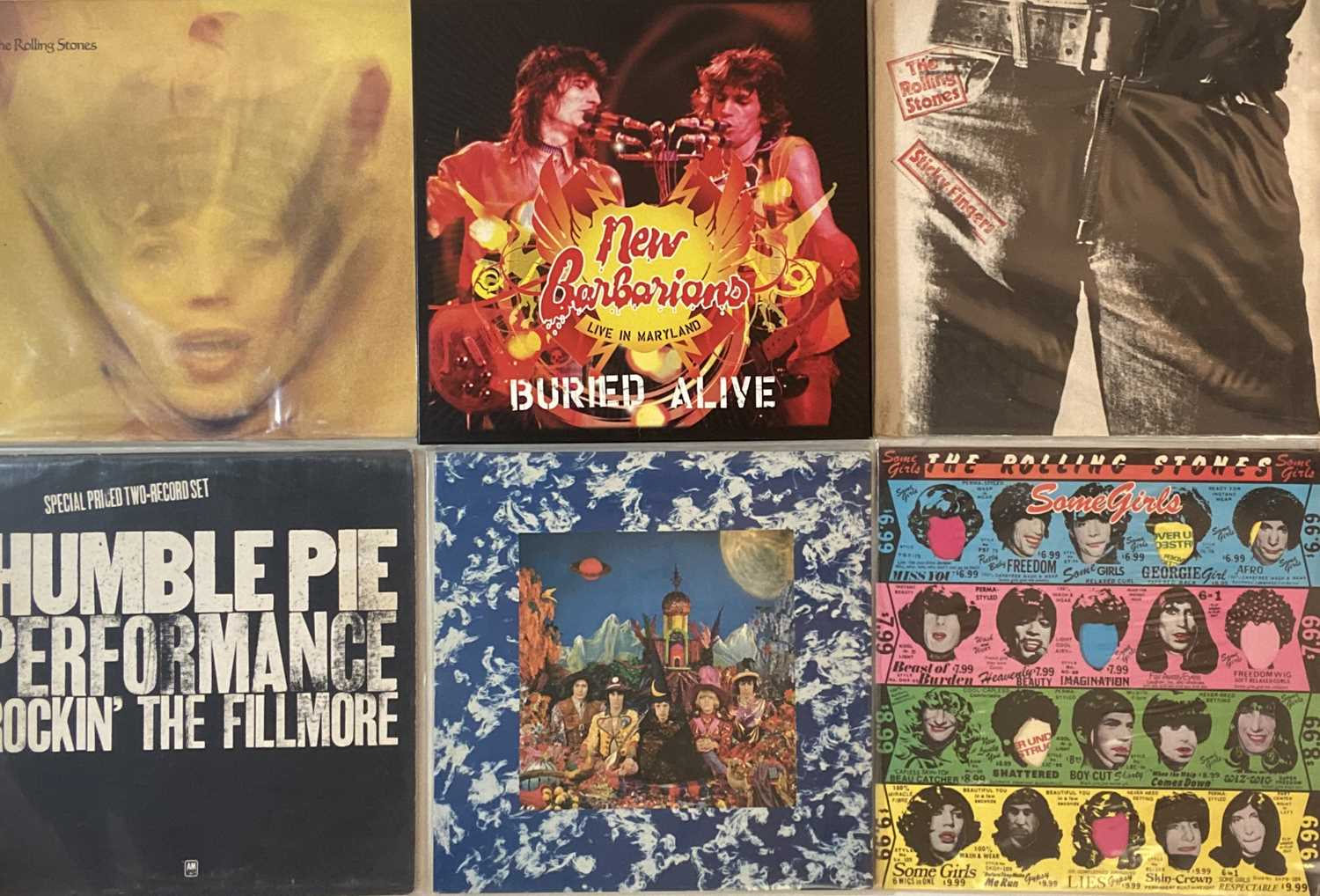 THE ROLLING STONES/ HUMBLE PIE - LPs
