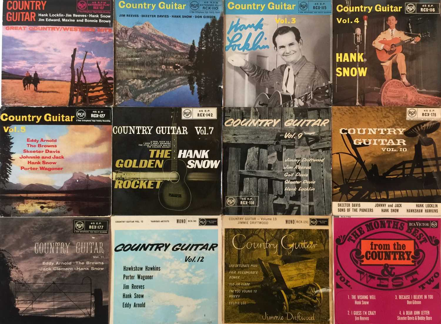 """COUNTRY/ ROCK/ POP - 7"""" EP COLLECTION"""