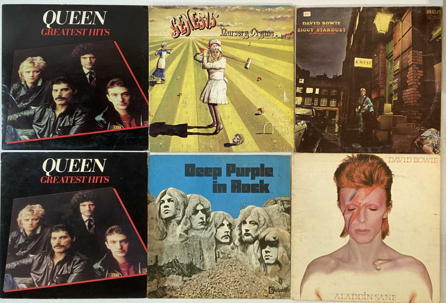 """CLASSIC ROCK AND POP - LPS AND 7""""."""