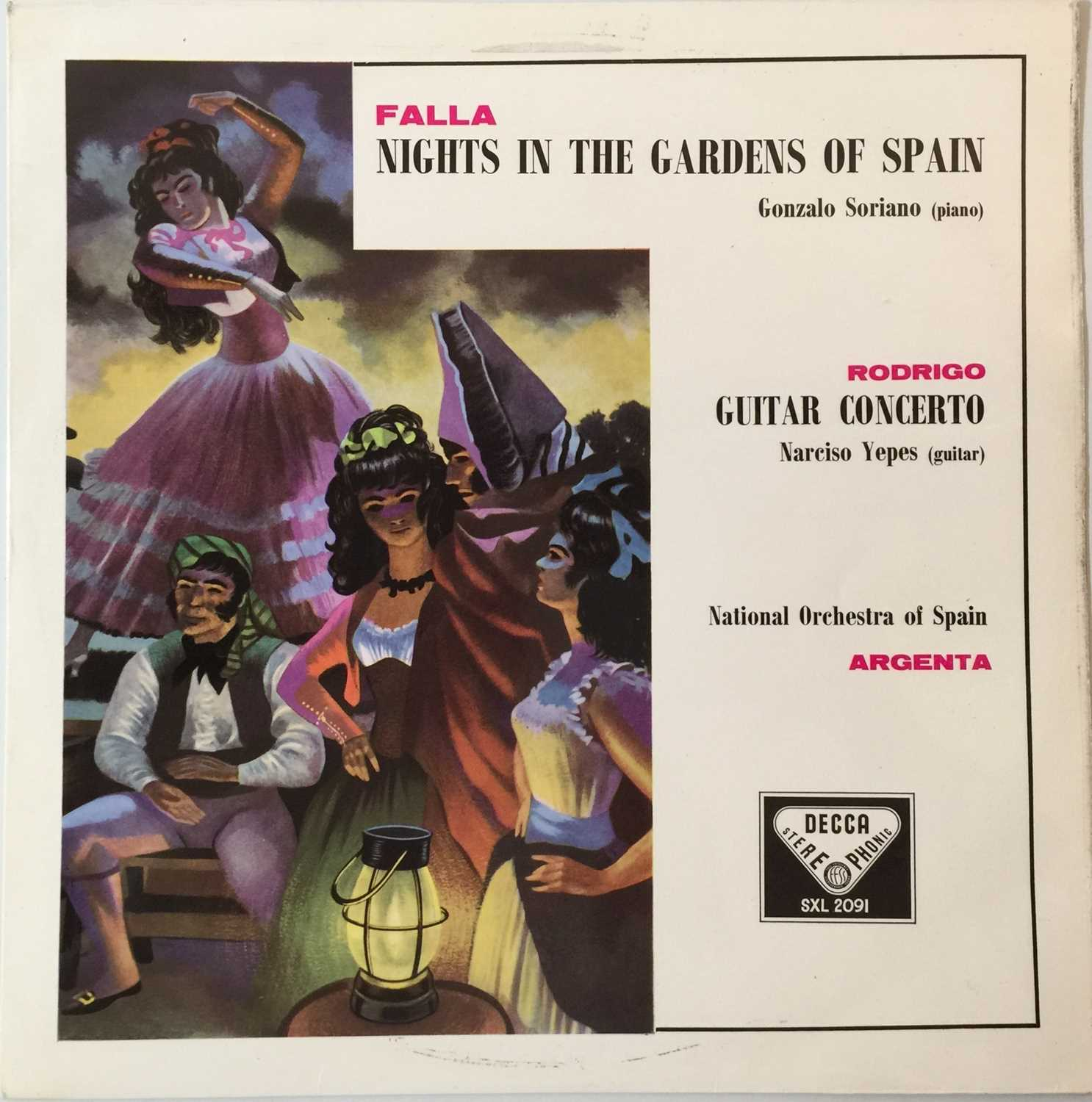 ARGENTA - FALLA: NIGHTS IN THE GARDENS OF SPAIN UK STEREO LP (SXL 2091 - ED1)