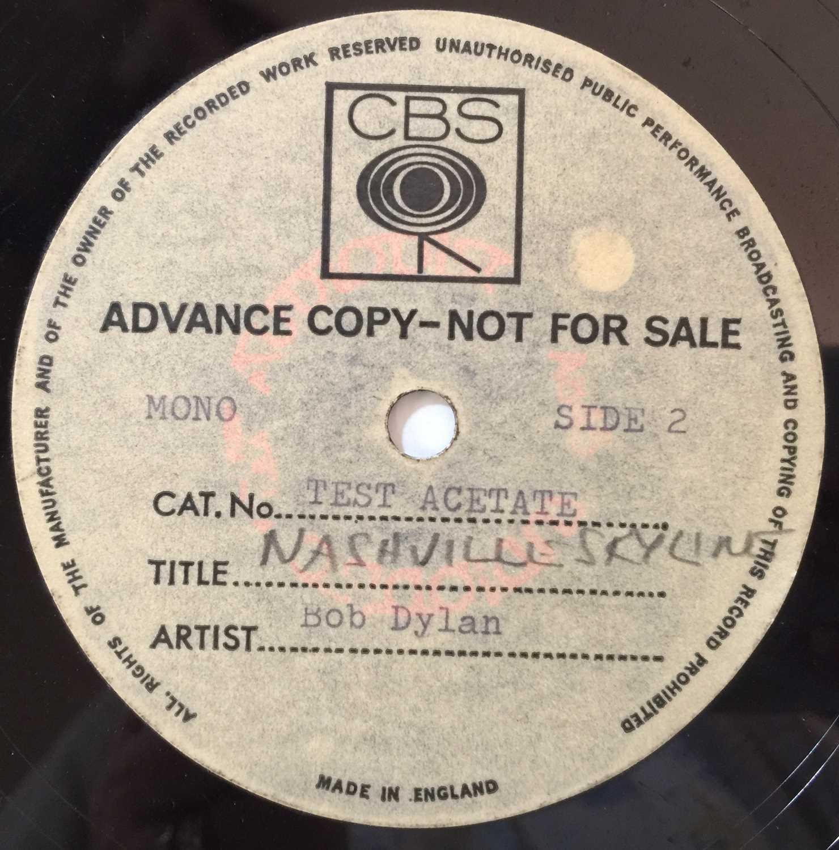 BOB DYLAN - NASHVILLE SKYLINE - LP CBS ACETATE - Image 3 of 3
