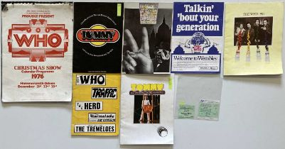 THE WHO - PROGRAMMES & TICKETS.