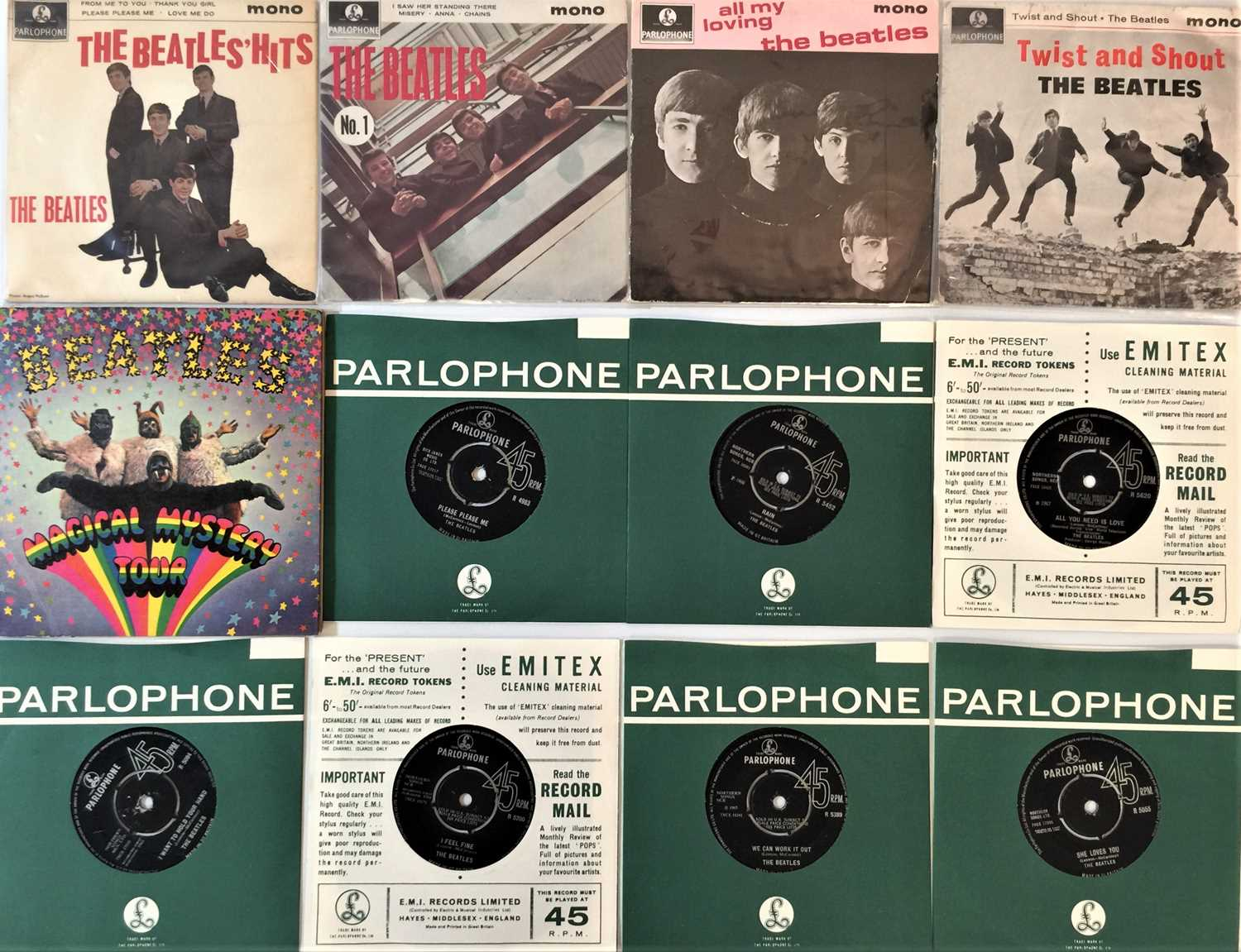 """THE BEATLES AND RELATED - 7""""/EP COLLECTION"""