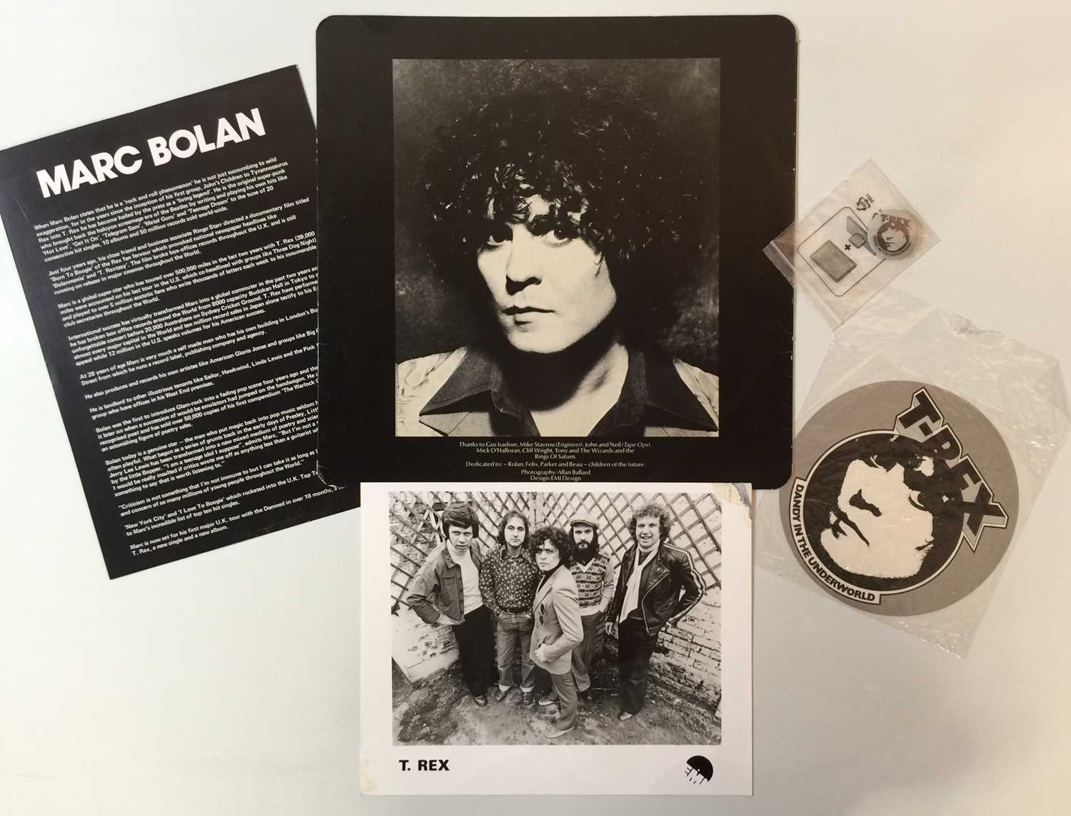 T REX - DANDY IN THE UNDERWORLD LP - WITH PRE-RELEASE PROMO PACK - Image 5 of 5