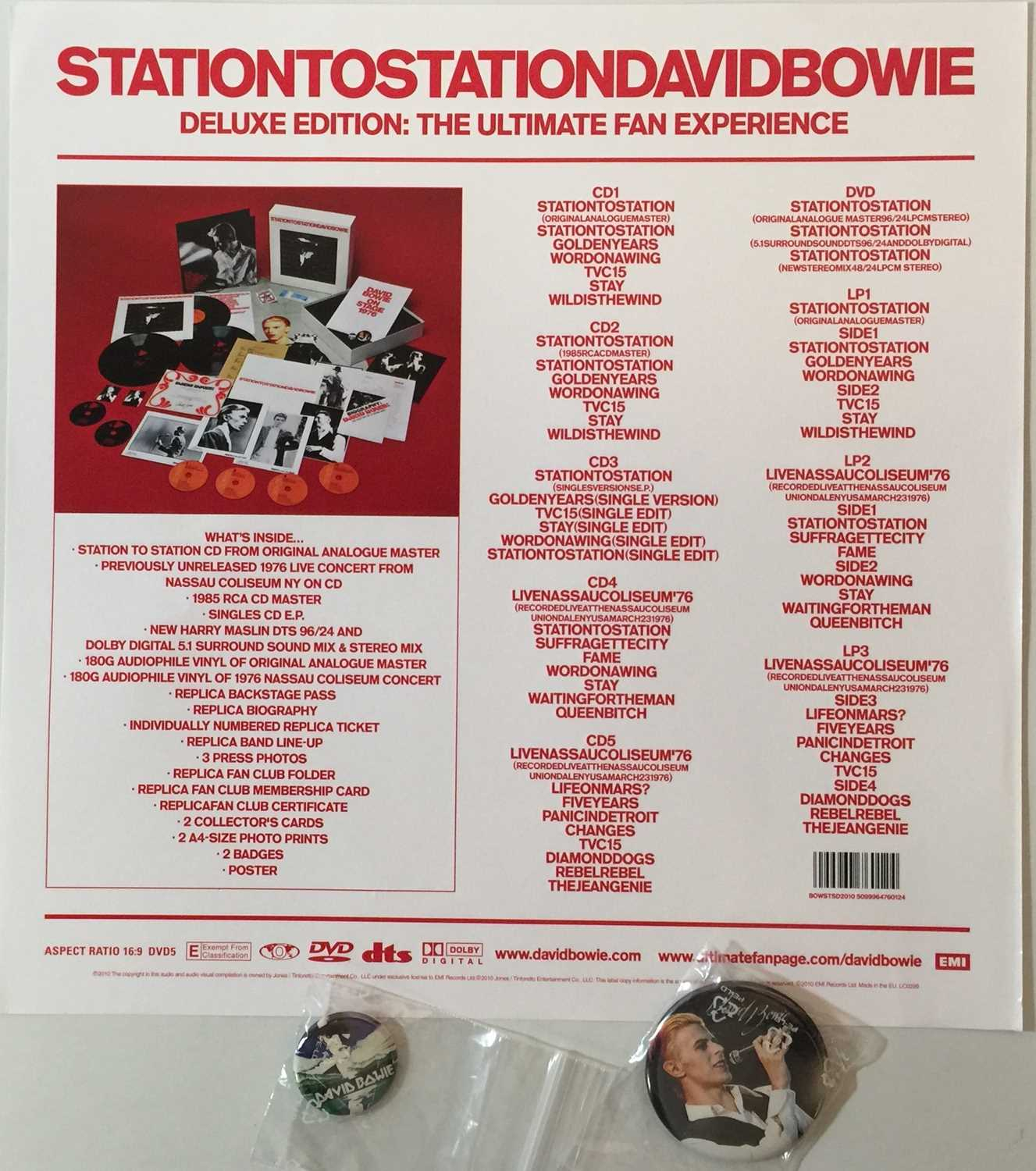 DAVID BOWIE - STATION TO STATION - DELUXE LP/ CD BOX-SET(BOWSTSD2010) - Image 4 of 5