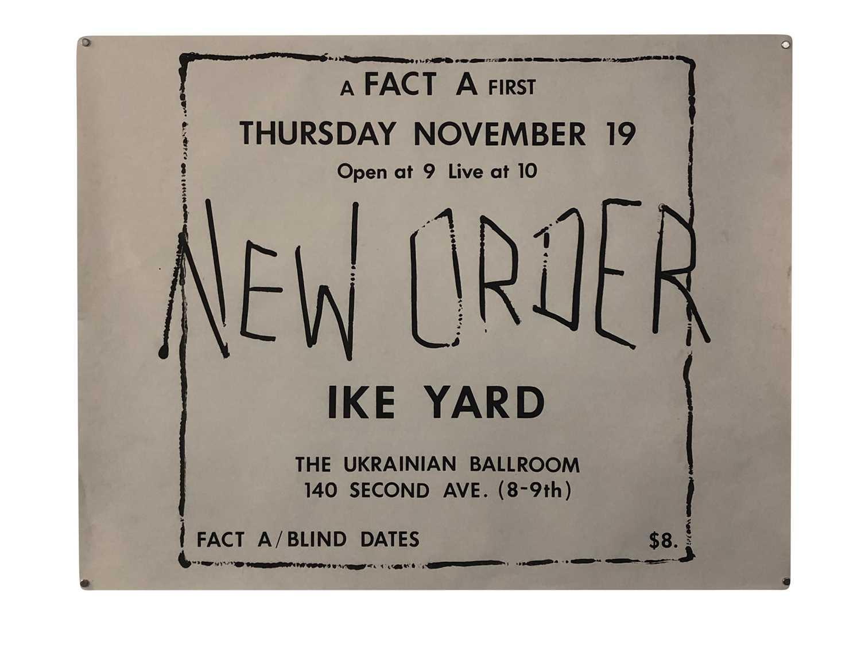1981 NEW YORK GIG POSTER
