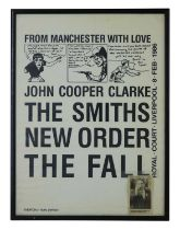 NEW ORDER, THE SMITH & THE FALL 1986 POSTER