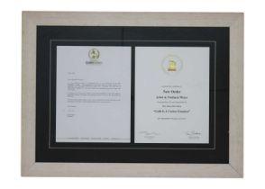 NEW ORDER GRAMMY AWARD MEDAL, CERTIFICATE & LETTER