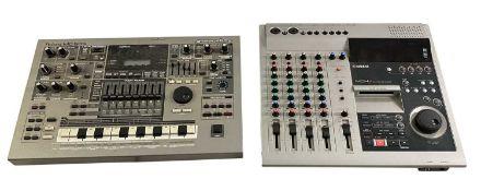 YAMAHA MD45 MULTITRACK MD RECORDER & ROLAND MC-505 GROOVEBOX