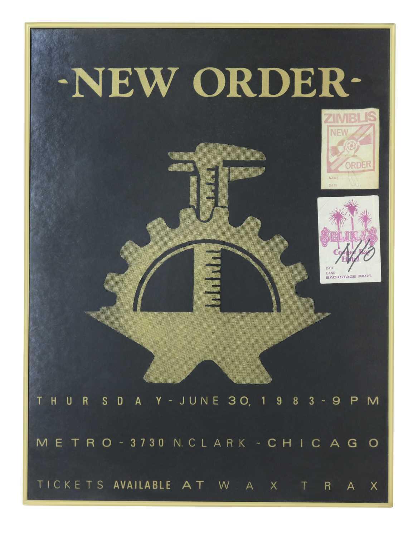NEW ORDER 1983 CHICAGO FRAMED POSTER
