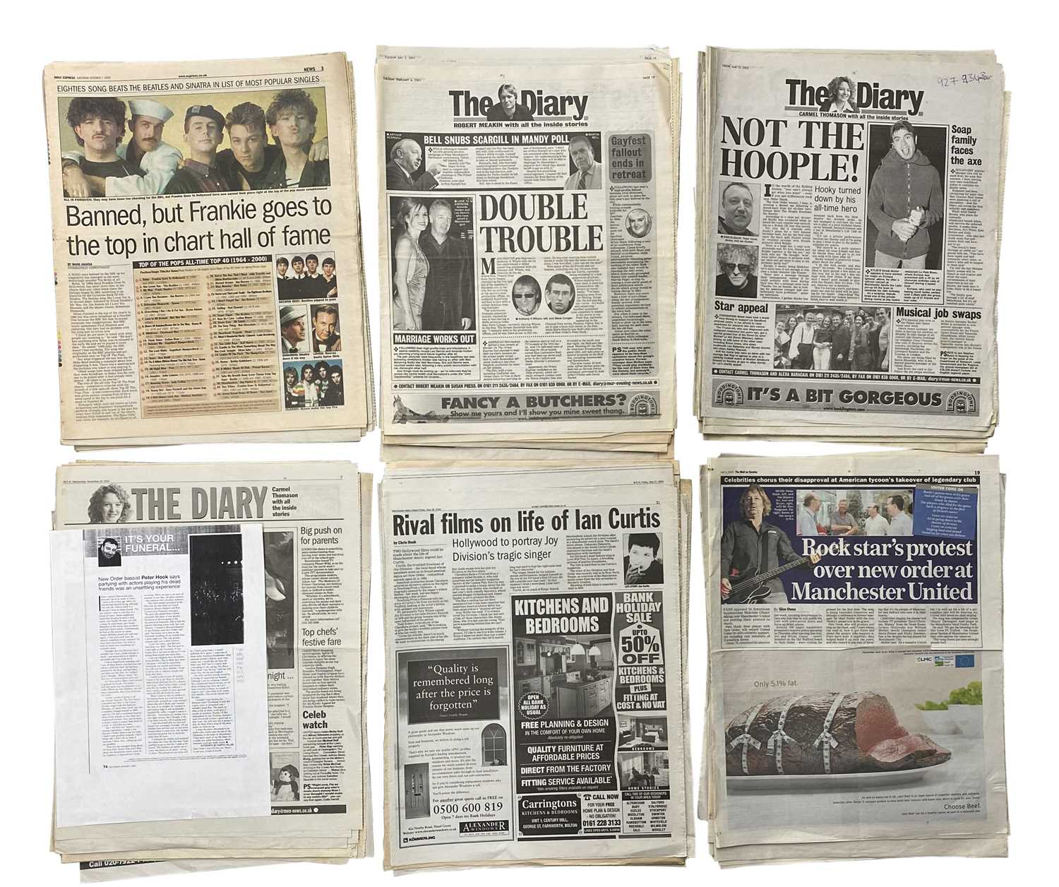 NEW ORDER & RELATED PRESS CUTTINGS ARCHIVE - Image 2 of 3