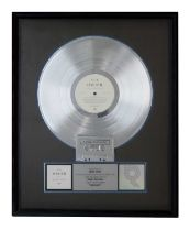 NEW ORDER SUBSTANCE RIAA PLATINUM DISC