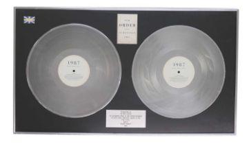 NEW ORDER UK PLATINUM AWARD FOR SUBSTANCE LP