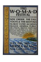 NEW ORDER 1985 W.O.M.A.D. FESTIVAL POSTER