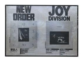 NEW ORDER & JOY DIVISION 1984 JAPANESE PROMO POSTER