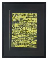 """MICHAEL WYLIE """"MANCHESTER POSTER"""" 2014"""