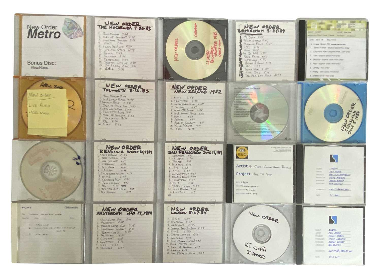 NEW ORDER CD-R AND LIVE RECORDINGS ARCHIVE 2 - Image 5 of 6
