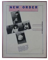 NEW ORDER ORIGINAL 1987 'SUBSTANCE' POSTER