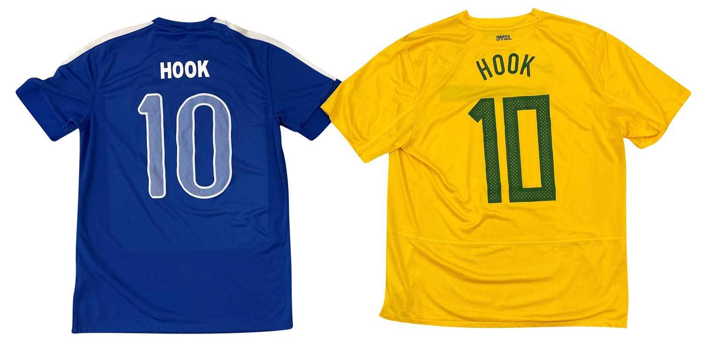 HOOKY'S TOUR WORN FOOTBALL SHIRTS - BRAZIL x2 - Image 2 of 2