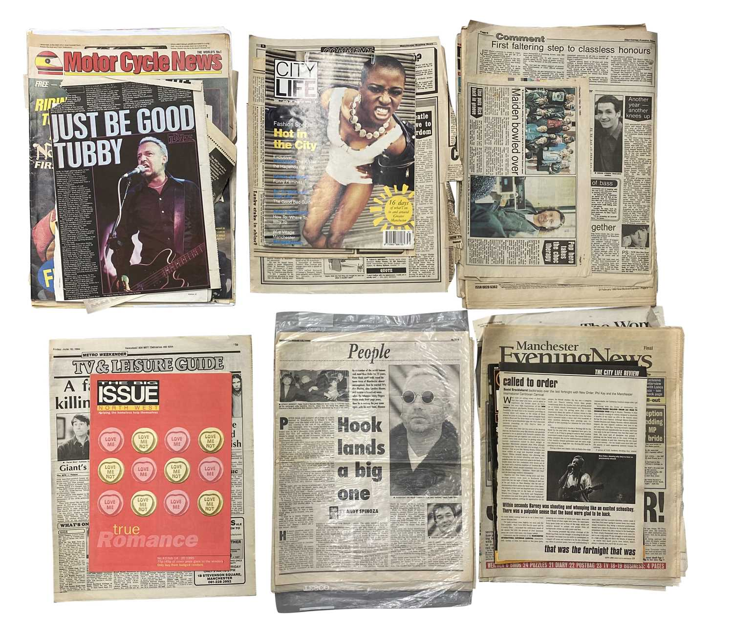 NEW ORDER & RELATED PRESS CUTTINGS ARCHIVE